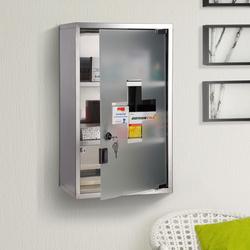 Armário Casa de banho 50x30x18 cm primeiros socorros aço inoxidável