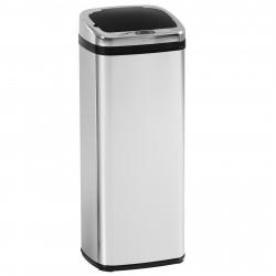 Caixote do lixo de 50 L - Caixote do Lixo com Sensor Detetor Movimento Automático Balde Aço