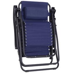 Espreguiçadeira dobrável Outsunny Cadeira de jardim Gravidade zero Poltrona de Praia Relaxante em Textilene Encosto reclinável Carga de armação de aço 150kg