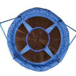 HomCom Baloiço de Criança Jardím Dobrável Assento de Baloiço Infantil Interior e Exterior Carga 100kg Tecido de Oxford - φ100x180cm