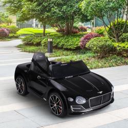 HOMCOM Bentley GT elétrico licenciado para crianças acima de 3 anos, carro 6V movido a bateria preto