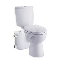 HomCom Bomba Trituradora de Águas Residuais com 400W e 4 Entradas para Casa de Banho Cozinha e Lavatório - 45x21,5x29cm