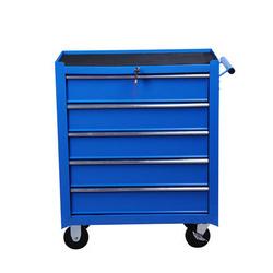HomCom Carrinho de ferramentas metálico 5 gavetas e 4 rodas - azul