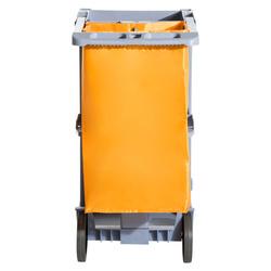 HOMCOM Carrinho de Limpeza com Saco 100L Profissional e Multifuncional para Colectividades Hostal do Hotel com 3 Bandejas e 1 Plataforma 113x50.5x96.5cm