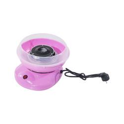 HomCom Máquina de Algodão Doce Cor-de-Rosa Aço Inox. 27x26x18 cm