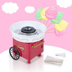 HomCom Máquina de Algodão Doce Elétrica Vermelho 30x30x28cm