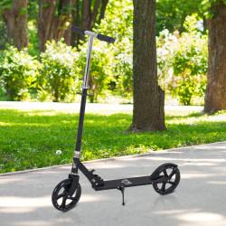 HOMCOM Trotinete dobrável para crianças acima de 5 anos de altura ajustável com freio 88x37x75-100 cm Preto