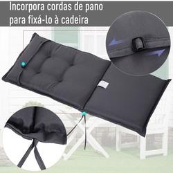 Outsunny Almofada individual para espreguiçadeira ao ar livre Tapete da cadeira de jardim