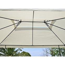 Outsunny Gazebo para Terraço Jardim Pátio - Tipo Tenda Pavilhão para Festa - 3x4x2.65m