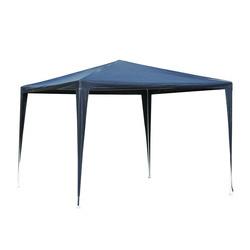 Outsunny Tenda de Jardim Destacável e Impermeável - Azul - Tecido de polietileno 90g / m² - 3x3x2,45 m