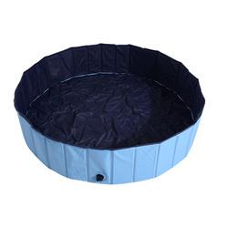 PawHut Banheira para Cães Gatos Dobrável Piscina para Animais de Estimação Natação Banho Φ140x30cm Cor Azul
