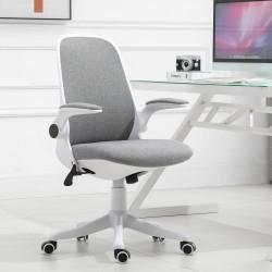 Vinsetto Cadeira de escritório giratória Função de inclinação Carga 120 kg 62,5x60x90-98 cm Cinza