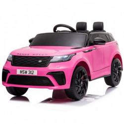 Carro Elétrico Range Rover VELAR 12V Bateria c/ Comando Rosa Choque