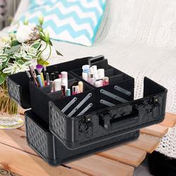 HomCom® Mala para Maquilhagem Caixa de Beleza Portátil 4 Níveis 35.5x20x25.5cm