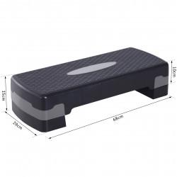 HomCom® tábua plataforma Step para Desporto com Altura Regulável a 2 níveis de carga 150 KG