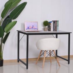 HOMCOM Mesa de escritório Mesa de computador Mesa de estudo Mobiliário de Escritório Simples 120x60x73cm Carga 70kg