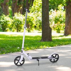 HOMCOM Trotinete dobrável para crianças acima de 5 anos de altura ajustável com freio 88x37x75-100 cm Branco