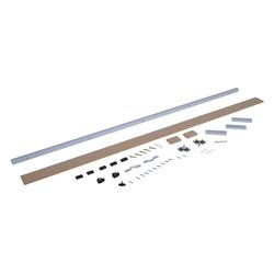 Kit de instalação com trilho e guia para porta deslizante - Alumínio e Madeira - 200x3,05x3,06cm