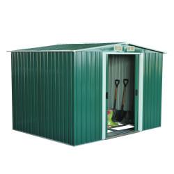 Outsunny Abrigo - Barracão Metálico Placa Verde 246x192,5x177,5 cm
