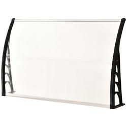 Outsunny Cobertura Telhado para janelas portas Toldo Terraços em policarbonato 5 mm Transparente Proteção contra sol e chuva Outsunny Cobertura Telhado para janelas portas Toldo Terraços em policarbonato 5 mm Transparente Proteção contra sol e90x150x25cm