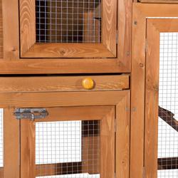 Pawhut Coelheira com cercado Cor marron Madeira de pinho e abeto 145x46x85cm