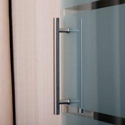 Portas de Correr de Vidro com 4 Listas-Instalação sem Obras-Medidas 205x102,5 cm