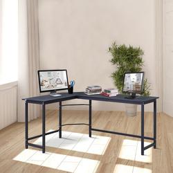 Vinsetto Mesa de escritorio Área de trabalho do PC Escritório mesa de canto do formulário L 168x120x75cm Armação de aço