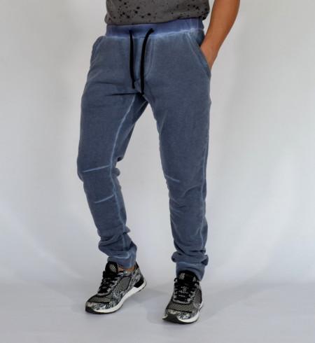 Men's Blue Oil Dye joggers sweat pants FALL/WINTER WARM