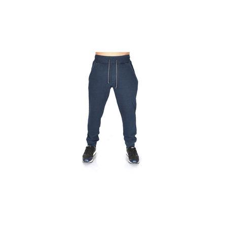 Men's dark blue denim joggers sweat pants FALL/WINTER WARM