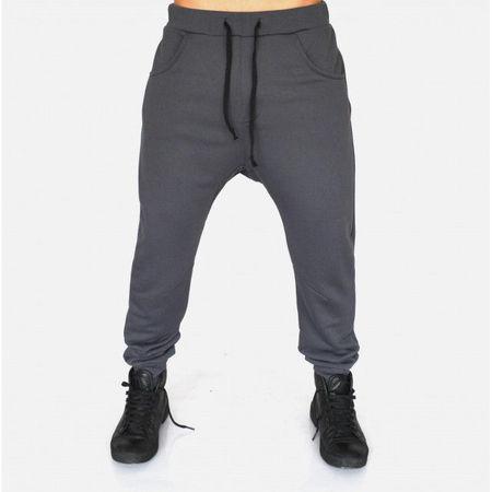 Men's Grey joggers drop crotch sweat pants SPRING/FALL