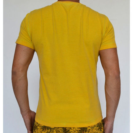 YELLOW OIL DYE MENS TSHIRT OIL DYE