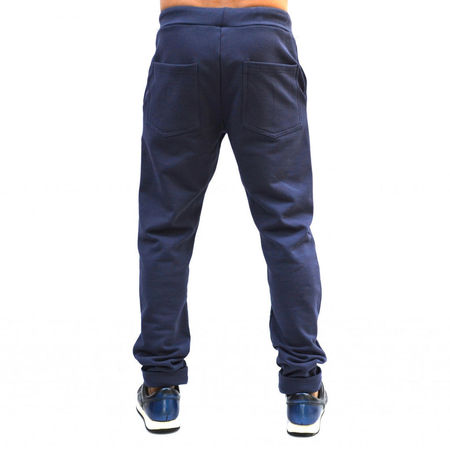 BLUE/PURPLE MENS CLASSIC SWEAT PANTS WARM FALL WINTER