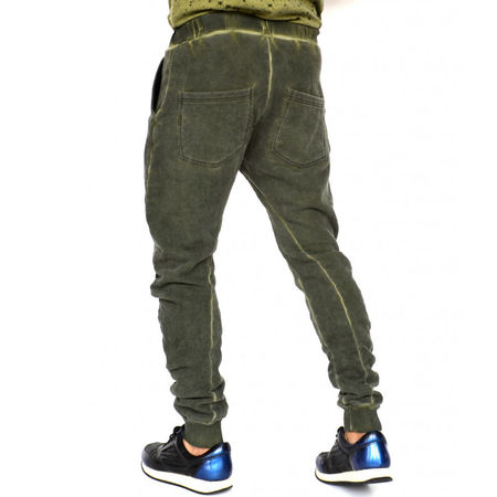 KHAKI OIL DYE HERREN JOGGINGHOSE TAPERED SLIM FIT HERBST/WINTER