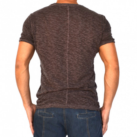 PURPLE BROWN OIL DYE MENS TSHIRT