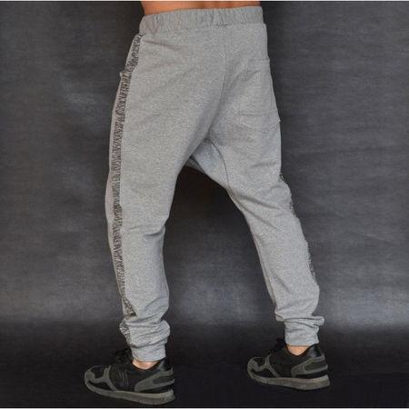Men's Light grey joggers drop crotch sweat pants FALL/SPRING