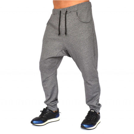 Men's grey joggers drop crotch sweat pants FALL/SPRING