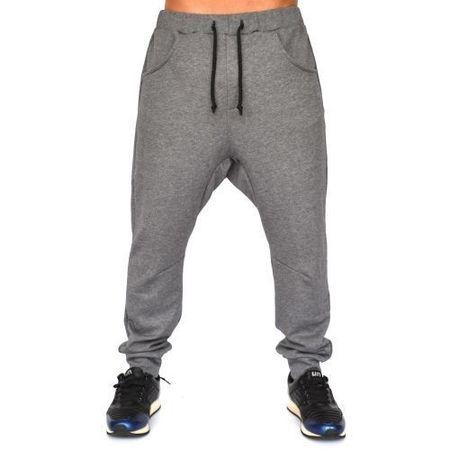 Men's grey joggers drop crotch sweat pants WARM FALL/WINTER