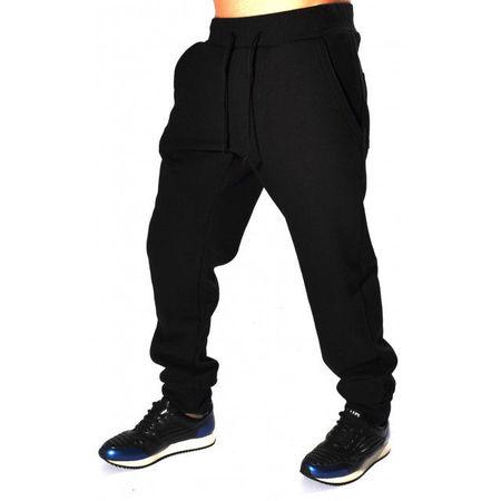 BLACK MENS CLASSIC SWEAT PANTS WARM FALL WINTER
