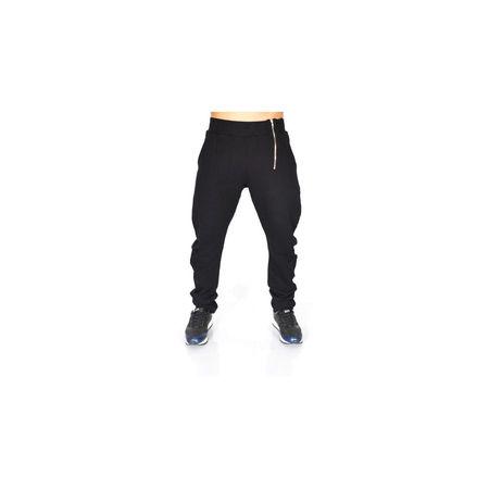 BLACK ZIP TAPERED SLIM SWEAT PANTS SLIM FALL/WINTER