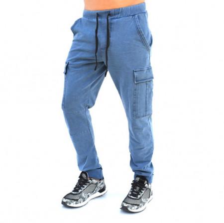 BLUE DENIM CARGO MENS CLASSIC SWEAT PANTS FALL/SPRING