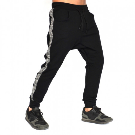 Men's Black joggers drop crotch sweat pants ZIP FALL/SPRING