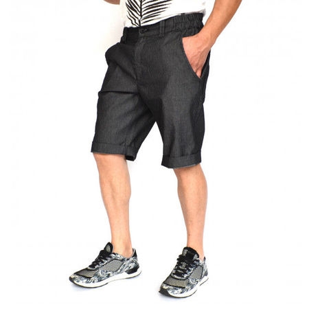 Men's blue striped shorts