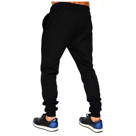 BLACK MENS SLIM SWEAT PANTS WARM FALL WINTER