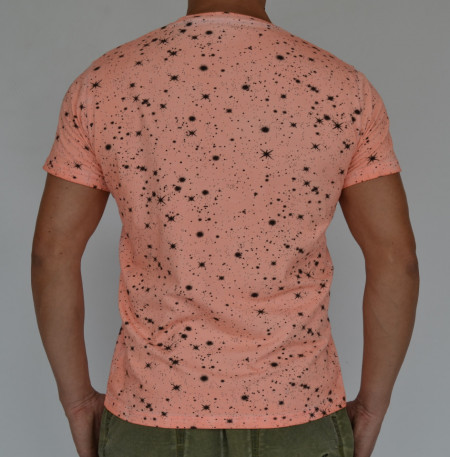 FLOUR DIRTY ORANGE OIL DYE MENS TSHIRT
