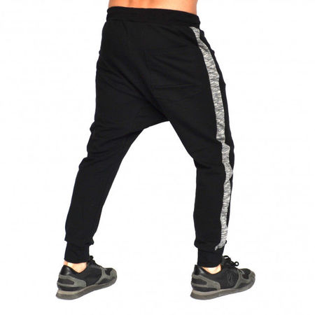 Men's Black joggers drop crotch sweat pants FALL/SPRING