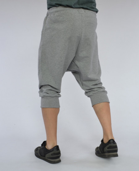Men's Light Grey drop crotch shorts