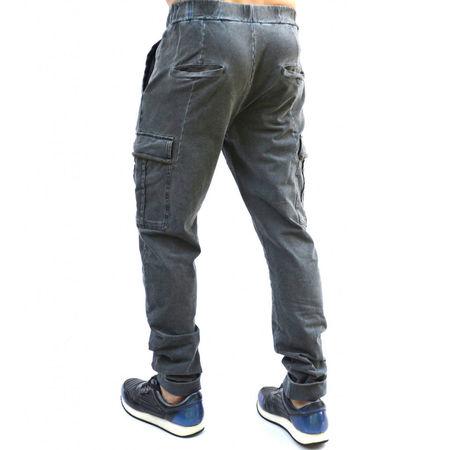 GREY/BLUE OIL DYE CARGO MENS CLASSIC SWEAT PANTS FALL/SPRING