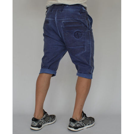 Men's shorts Navy Blue oil dye
