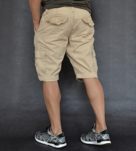 MENS CARGO SHORTS BEIGE