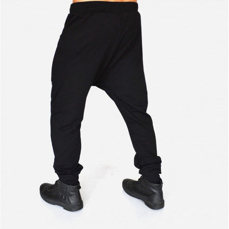 Men's Black joggers drop crotch sweatpants SPRING/FALL